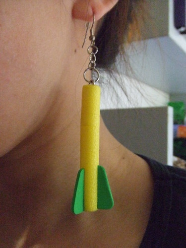 Nerf Dart Earring, DIY
