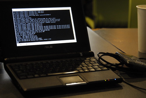 tethering blackberry to xandros eeepc