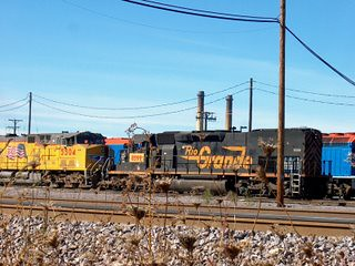 Former Denver & Rio Grande Western locomotive acquired through merger. The Union Pacific M-19A Diesel Shop. Chicago Illinois. October 2006. by Eddie from Chicago