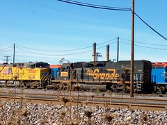 Former Denver & Rio Grande Western locomotive acquired through merger. The Union Pacific M-19A Diesel Shop. Chicago Illinois. October 2006.