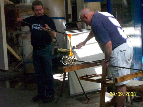 Ireland - Waterford Crystal Factory Tour - glass blower demonstration