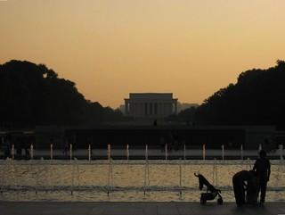 Lincoln Memorial from U.S. National World War II Memorial, Washington, D.C.