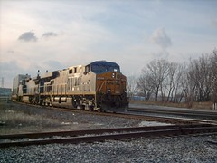 Eastbound CSX intermodal train. Hayford Junction. Chicago Illinois. March 2007.