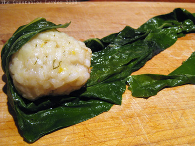 risotto chard rolling