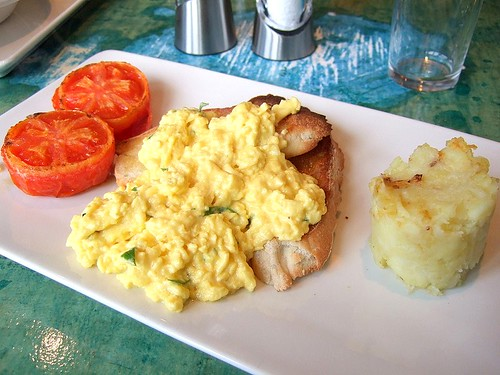 Cafe Paradiso scrambled eggs