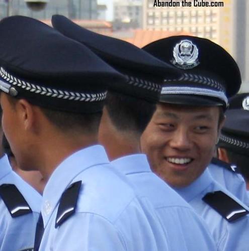 A happy cop