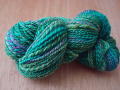 Roving from The Dyeing Arts - Lavendars Grean