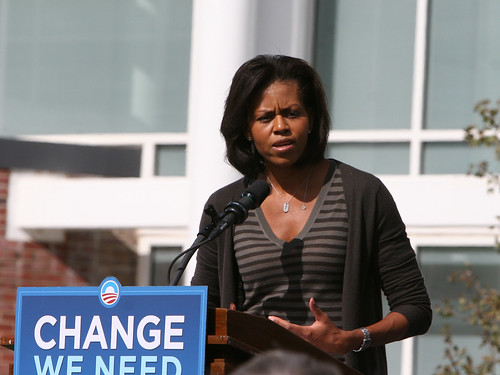 Michelle Obama spoke at Keene State College
