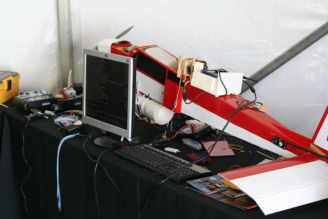 The 2008 Missouri S&T UAV in the paddocks at competition.