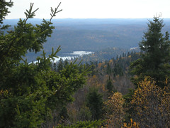 View from Ishpatina Ridge towards Scarecrow and Woods lakes