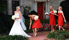 The Bride, The Veil (Pulicciano) Tags: orange bride dc washington coach veil georgetown piture paparazzi maid photoreporter pulicciano
