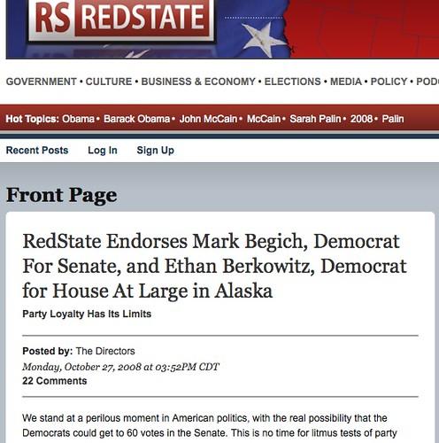 Redstate Endorses Begich, Berkowitz