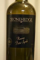 2005 Stonehedge Reserve Petite Syrah