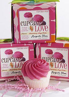 Strawberry angel food cupcake soap