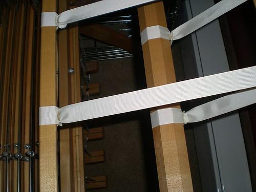 Apron ribbons - closeup