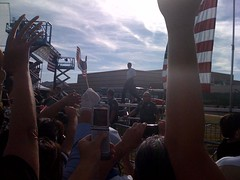 Obama Takes the Stage Nevada