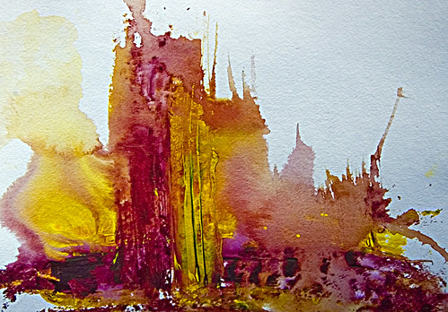 Abstract Art Watercolor by TlalocTev.