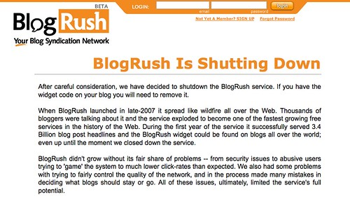 Blogrush Shuts Downs 1