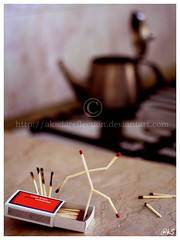 Run for Life (Ahmed W Khan - [AkS]) Tags: life kitchen canon dead fire run kettle conceptual matches eos350d matchbox aks matchsticks aksdareflection