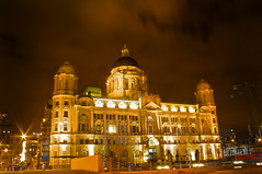 Port of Liverpool Building (Paul Mumby-Croft) Tags: uk england liverpool canon 350d xt long exposure landmark nighttime threegraces liver portofliverpool