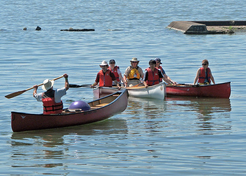 Canoe Instruction at Sunnyside