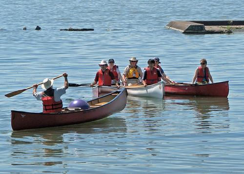 Canoe Instruction at Sunnyside