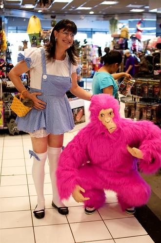 Halloween shop employees
