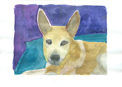 Watercolor Pup