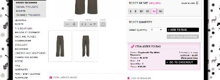 Topshop continue shopping link