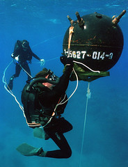 970215-N-3093M-001 (Marion Doss) Tags: people training mine diver weapons ordnance scubadiver