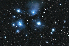 The Pleiades (Messier 45) revisited (zAmb0ni) Tags: sky stars long exposure 300d telescope galaxy nebula astrophotography m45 astronomy constellation celestron pleiades newtonian c6n