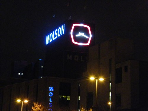 Molson Clock at Montreal Brewery