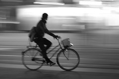 Man Cycling at Potsdamer Platz