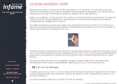 Cuarto theme de Sólo otro blog infame, columna y media, enlaces en rosa