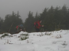 Recon and Malachai battling the elements