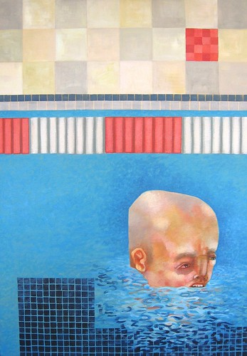Submerge, acrylic on canvas, 2009 by Sarah Atlee