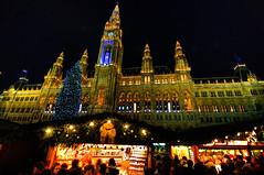 Julpyntning på hög nivå i Wien