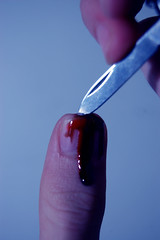 Day 192 of 365 (Christopher Saccaro) Tags: selfportrait blood knife cutting thumb 365days nikond40