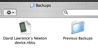 NCX - backup files