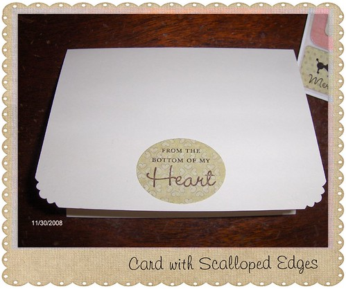 Card with Scalloped Edges