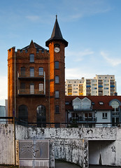 Urban Contrast (Philipp Klinger Photography) Tags: new old blue light sky urban house building tower clock window architecture clouds contrast germany deutschland nikon europa europe hessen balcony bad 1001nights philipp taunus contrasts oldvsnew hesse klinger homburg tamron2875mmf28 abigfave urbancontrast aplusphoto d700 dcdead flickrlovers