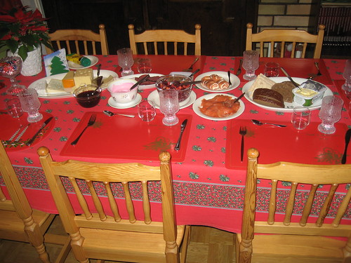 Christmas Dinner- Dinner Table- Rovaniemi, Finland 2008