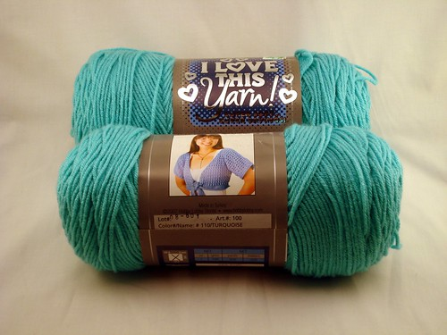 Yarn Stash: Hobby Lobby I Love This Yarn (Turquoise)