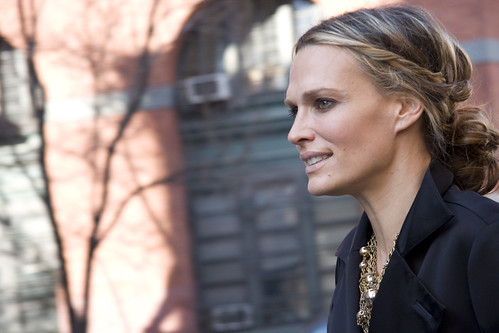 Molly Sims at Fashion Week