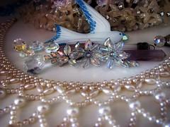 treasure trove (damselfly58) Tags: silver whimsy ballerina fairy vignette jewel