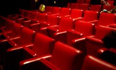 the last picture show (matteoprez) Tags: red italy cinema color colour slr iso800 colore f14 olympus movietheatre perugia om1 fujisuperia epson4490 50mm114 turreno zuikoom matteoprezioso