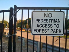 No Pedestrian Access Gate