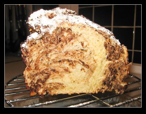 Pan dulce de chocolate y almendras-2