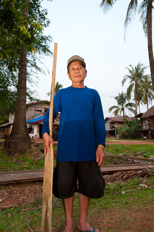 Boat driver on the Nam Kading River, Laos