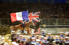 Forgetting the past ... (Rob Overcash Photography) Tags: uk horse france canon display britain flag country rider 70200f28lis robotography 5dmkii windsorcastleroyaltattoo robovercashphotography